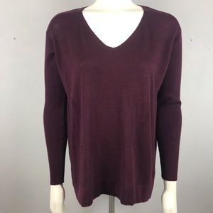 White House Black Market Maroon Sweater Small
